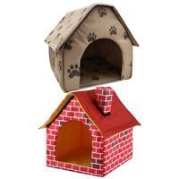 Tragbar Hund Haus Klappbar Winter Warme Tierbett Nest Zelt Katze Welpe Zwinger C
