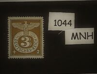 #1044    MNH WWII emblem & Eagle stamp / 1943 Third Reich Issue / Germany