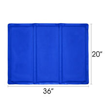 "20""x36"" Cooling Mat Pet Cooler Pad Pet Dog Crate Bed Kennel Blue, By Free Paws"