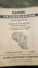 Clark Transmission Maintenance & Service Manual Supplement