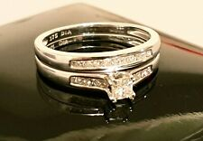 EVERLASTING LOVE 9CT WHITE GOLD 0.50CT DIAMOND BRIDAL SET- Sizes avail. N, O, P