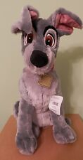 """Disney Plush TRAMP From Lady and the Tramp Movie NWT 13"""" Soft & Handsome!"""