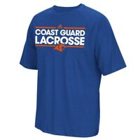 U.S. Coast Guard Academy  Adidas Men's Dassler Lacrosse Climalite Blue T-Shirt