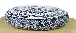"""35"""" Large Round Floor Cotton Indian Cushion Pillow Cover Pouf Meditation Cover"""