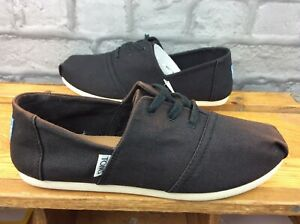 TOMS LADIES HERMOSA BLACK TWILL FABRIC SHOES RRP £30 VARIOUS SIZES T