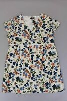 Lovedrobe Women's Button Through Midi Floral Dress SV3 Ivory Size US:22 NWT