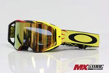 Oakley NEW Mx Airbrake High Voltage Gold 24K Iridium Motocross Dirt Bike Goggles