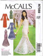 Trumpet Mermaid Flounce Column Dress Formal Bridal Sewing Pattern 14 16 18 20 22