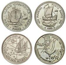 CANARY ISLANDS 1989 UNC 100 ESCUDOS PORTUGAL COMMEMORATIVE COIN