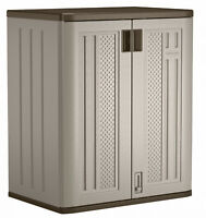 Outdoor Storage Cabinet Utility Resin Base Box Yard Garden Tool Locker Garage