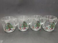 MCM Luminarc Christmas Tree Glass Mug - Set of 4