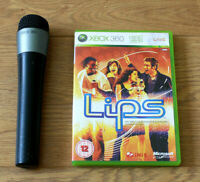 Xbox 360 Official Black Wireless Microphone & Lips Game