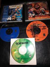 3 Demo Games Working Sega Dreamcast Generator Volume 1 2 4 Game Lot Bundle Rare