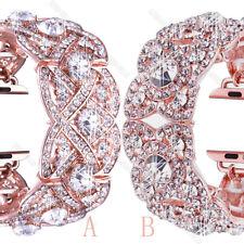 Kirsite Diamond Watch Band Bling Bracelet Wrist Strap For Apple Watch 40mm 44mm