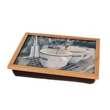 He & bien cojines de Tablet PC con marco de madera rodilla cappuccino bandeja desayuno brett
