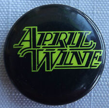 APRIL WINE Logo Vtg 70`s/80`s 25mm Button Pin Badge #AW.105
