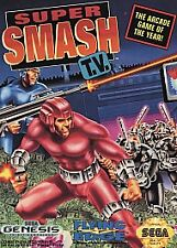 Super Smash TV Sega Genesis Game W/ Manual Cleaned & Tested Rare