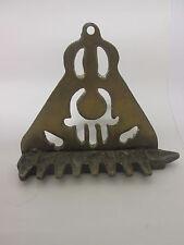 Vintage Candle MENORAH ~ ~ jewish chanukah judaica hanukka antique metal / brass