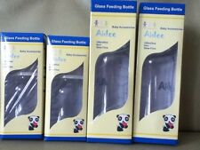 Four Aidee Glass Baby Bottles with Silicone Nipple-2 (9 Oz) And 2 (5 Oz) -NEW