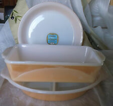 3 Pc Fire King Copper Tint Bakeware -  Beautiful!!! Never used!