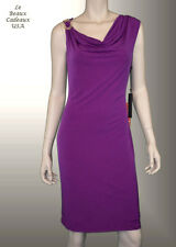 IVANKA TRUMP Women Dress Size 16 MAGENTA W BROOCH Sleeveless Knee Dressy LBCUSA