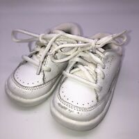 Stride Rite Baby Walking Shoes Sneakers Size 5 WIde White Leather Lace Up