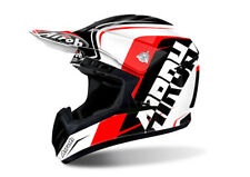 ACU GOLD STAMP FITTED AIROH SWITCH SCARY MATT BLACK MOTOCROSS HELMET