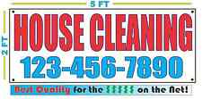 HOUSE CLEANING w CUSTOM PHONE Banner Sign NEW Larger Size Best Quality for the $
