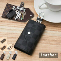 Daily Res Leather Wallet Case Car KeyChain Card Holder key Organizer Bag keyring