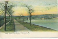 PHILADELPHIA PA - Girard Avenue Bridge Rotograph Postcard - udb (pre 1908)