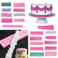 3D Silicone Cake Border Mold Fondant Lace Mold DIY Party Bakeware Accessories