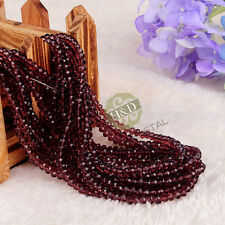 Lot 1500 Burgundy Crystal Glass Faceted Loose Beads Rondelle Jewelry Making 4mm