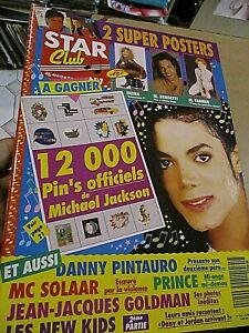magazine star club numero 52 michael jackson mylene farmer indra