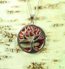 Heather Tree of Life Pendant Handmade & Silver Plated Necklace  HG-13A