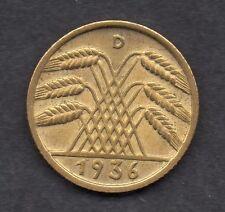Allemagne 10 Allemand Reich pfennig 1936-D Universel