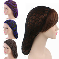Women Casual Crocheted Hair Net Hat Rayon Snood Wig Cap Vintage Fashion Hairnet