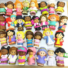 """Kids Gift Random Pick 10pcs Fisher Price Little People 2"""" all Girl Figures Toy"""