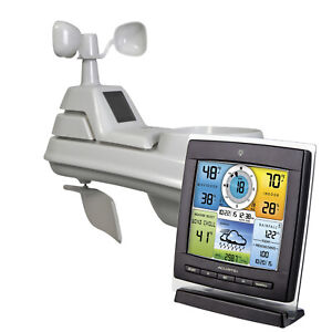 Wireless Weather Station W/ 5-in-1 Sensor Self-Calibrating Forecasting NEW