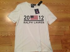 Polo Ralph Lauren classic 2012 London England USA Olympics t shirt flag red L