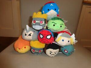 10 Disney Marvel Tsum Tsum Collection -Captain America, Hulk, Thor, Iron Man,ect