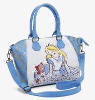 Disney Loungefly Alice In Wonderland Alice And Dinah Sketch Satchel Shoulder Bag