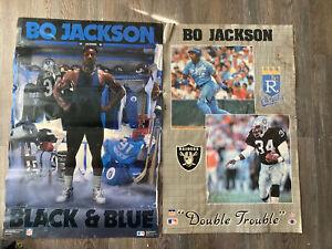 1989 Bo Jackson Vintage Posters - Black & Blue & Double Trouble