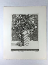 """Original SIGNED Etching By CARL GRUPP - """"SMALL BOUQUET"""" Published By AAA"""