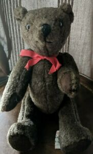 """Vintage jointed teddy bear Original Barb-B-Bear. Approximately 10"""""""