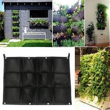 12 Pocket Hanging Vertical Pot Herbs Garden Wall Planters Bag For Outdoor Garden
