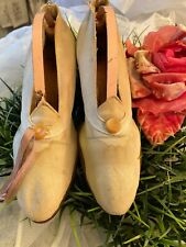 Victorian Shabby Chic Antique Wedding Bridal Shoes Raggedy Goodness Vintage