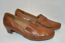 Footglove Womens Brown Leather Pumps/Court Shoes Size UK 5.5 EU 39