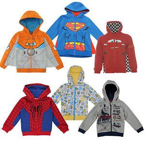 Disney Cars Spiderman Minions Disney Planes Veste à Capuche Enfants 86-152