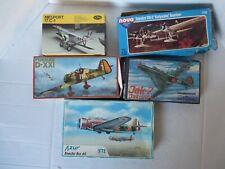Group C: 5 models Fokker D-Xx1, Jak-7, Breda Ba 65, 1/72. See other groups