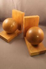 Buchstützen 60er Jahre 60s bookends ART DECO Spheres Kugeln Holz Wood Modernist